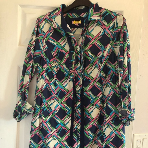 Lilly Pulitzer Dresses & Skirts - Lilly Pulitzer Multi Color Shirt Dress